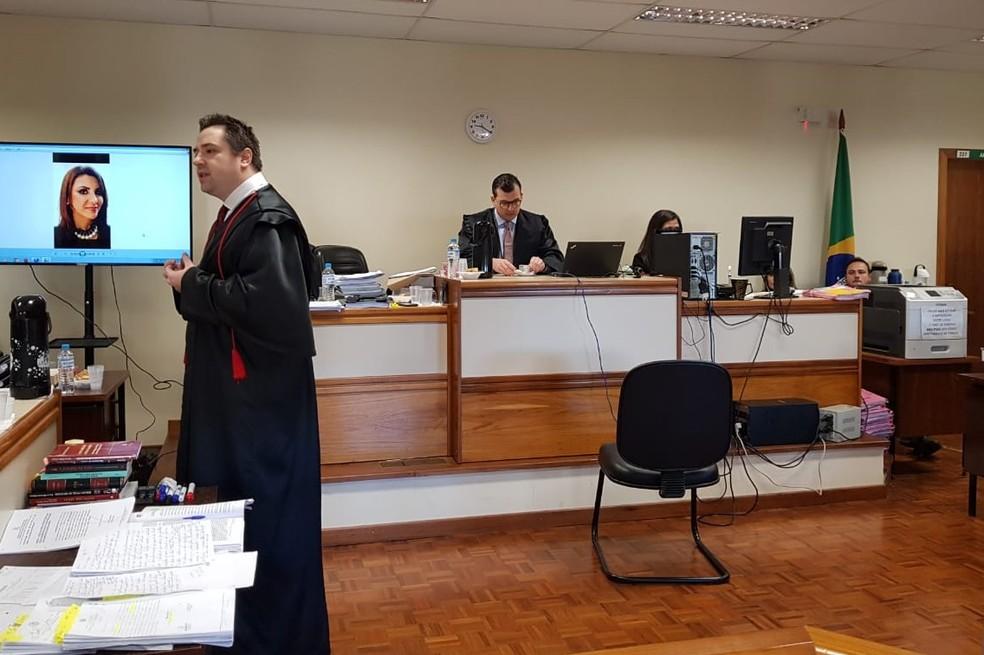 Segundo dia de julgamento está ocorrendo nesta quarta (3) — Foto: Alfredo Perez/RBS TV