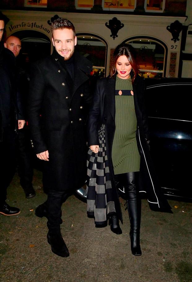 Liam Payne e Cheryl Cole (Foto: AKM-GSI Brasil)