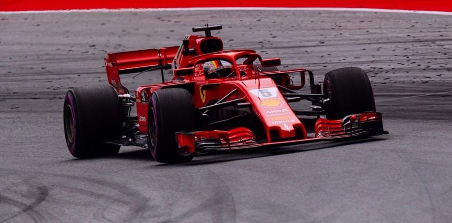 Ferrari volta a reagir num sábado, e Vettel quebra recorde no 3º treino na Áustria