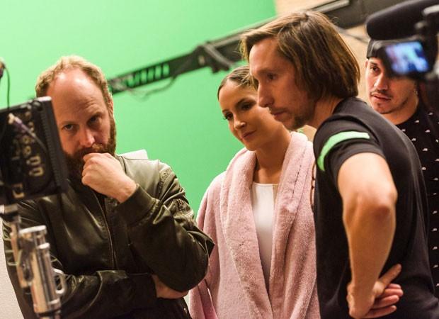 Claudia Leitte entre os diretores Breno Pineschi e Rafael Cazes (Foto: Ariel Martini)