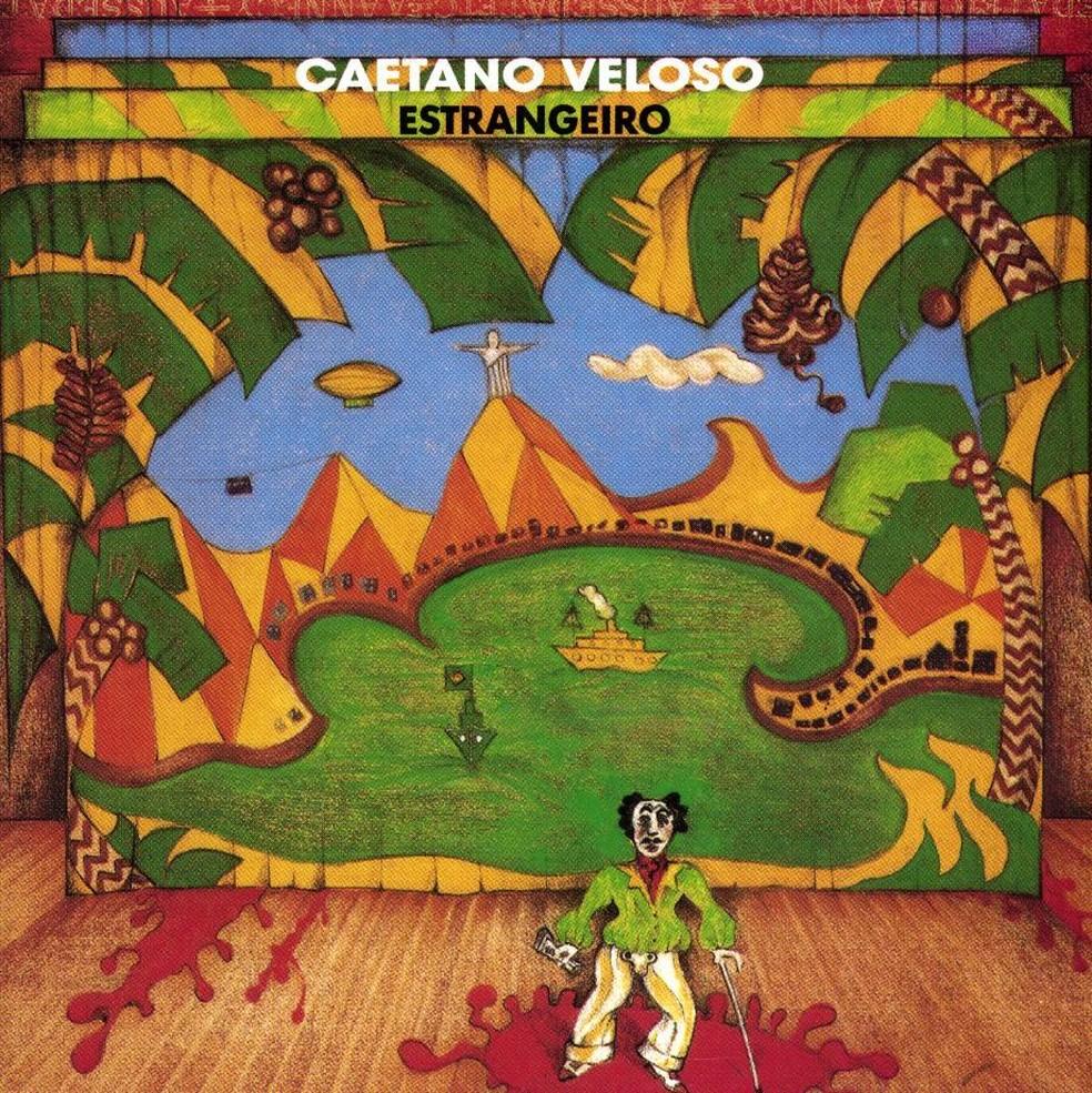 Capa do álbum 'Estrangeiro' (1989), de Caetano Veloso (Foto: Arte de Helio Eichabuer)