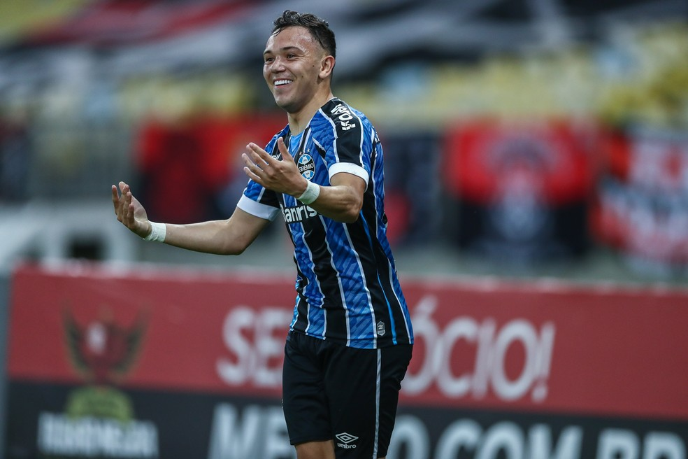 Pepê, atacante do Grêmio — Foto: Lucas Uebel/Grêmio