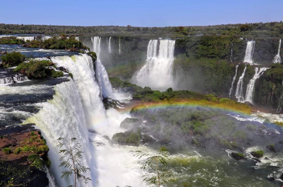 Mais de 1,6 milhão de pessoas visitaram as Cataratas do Iguaçu em 2019 — Foto: Parque Nacional do Iguaçu/Divulgação