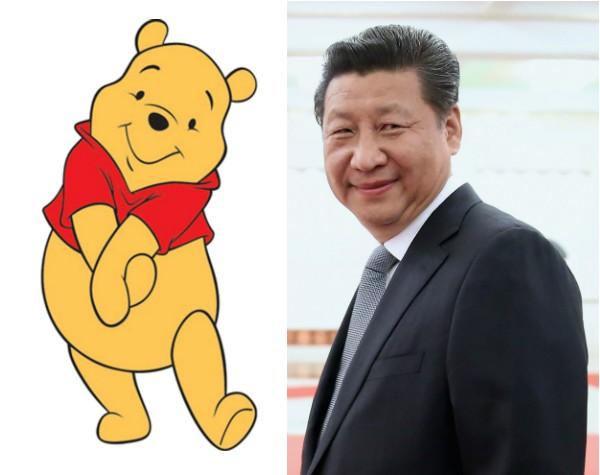 O ursinho Pooh e o presidente chinês Xi Jinping (Foto: Reprodução/Getty Images)