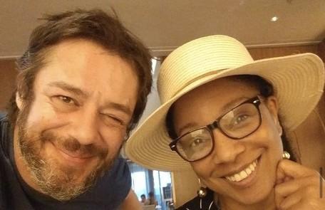 A atriz Adriana Lessa assumiu o romance com o ator Igor Cotrim em fevereiro Reprodução