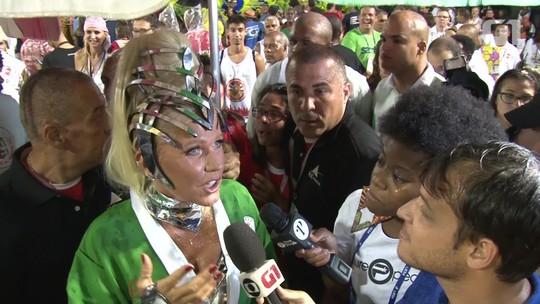 Xuxa diz que vai ser difícil segurar a emoção no desfile da Grande Rio