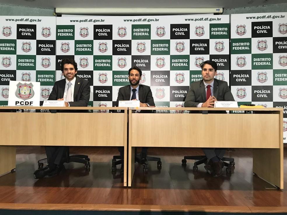 PCDF e Ministério Público apresentam balanço da operação Cartas Marcadas — Foto: Marília Marques/G1 DF