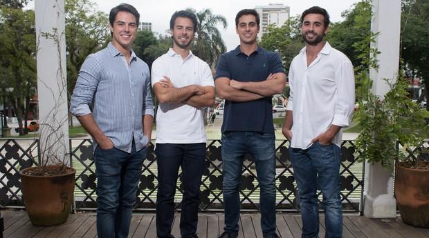 Os sócios fundadores do James Delivery: Juliano Hauer, Lucas Ceschin, Ivo Roveda e Eduardo Petrelli  (Foto: Divulgação)