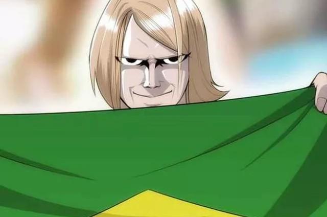 Chamado de 'torcedor misterioso', Yuri Torsky virou mascote da Seleção (Foto: Reprodução)