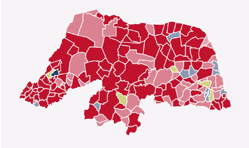 Fátima Bezerra (PT) ganhou na maior parte dos municípios do RN  — Foto: G1