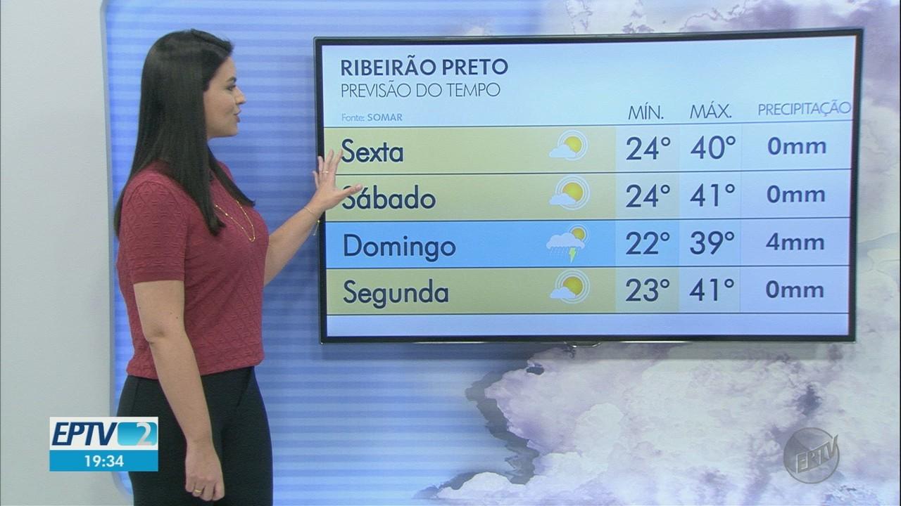 Veja a previsão do tempo para esta sexta-feira (1°) na região de Ribeirão Preto