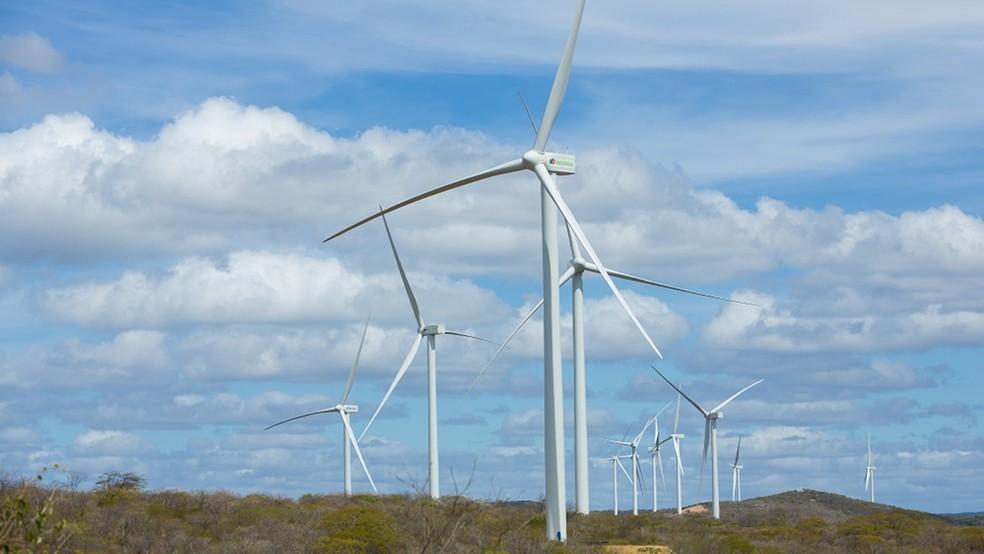 Paraíba é o 9º estado que mais produz energia eólica no Brasil — Foto: Divulgação/Neoenergia
