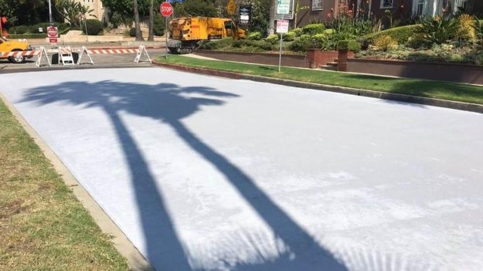 Los Angeles é a primeira cidade a testar a eficácia da pavimentação fresca (Foto: Prefeitura de Los Angeles)