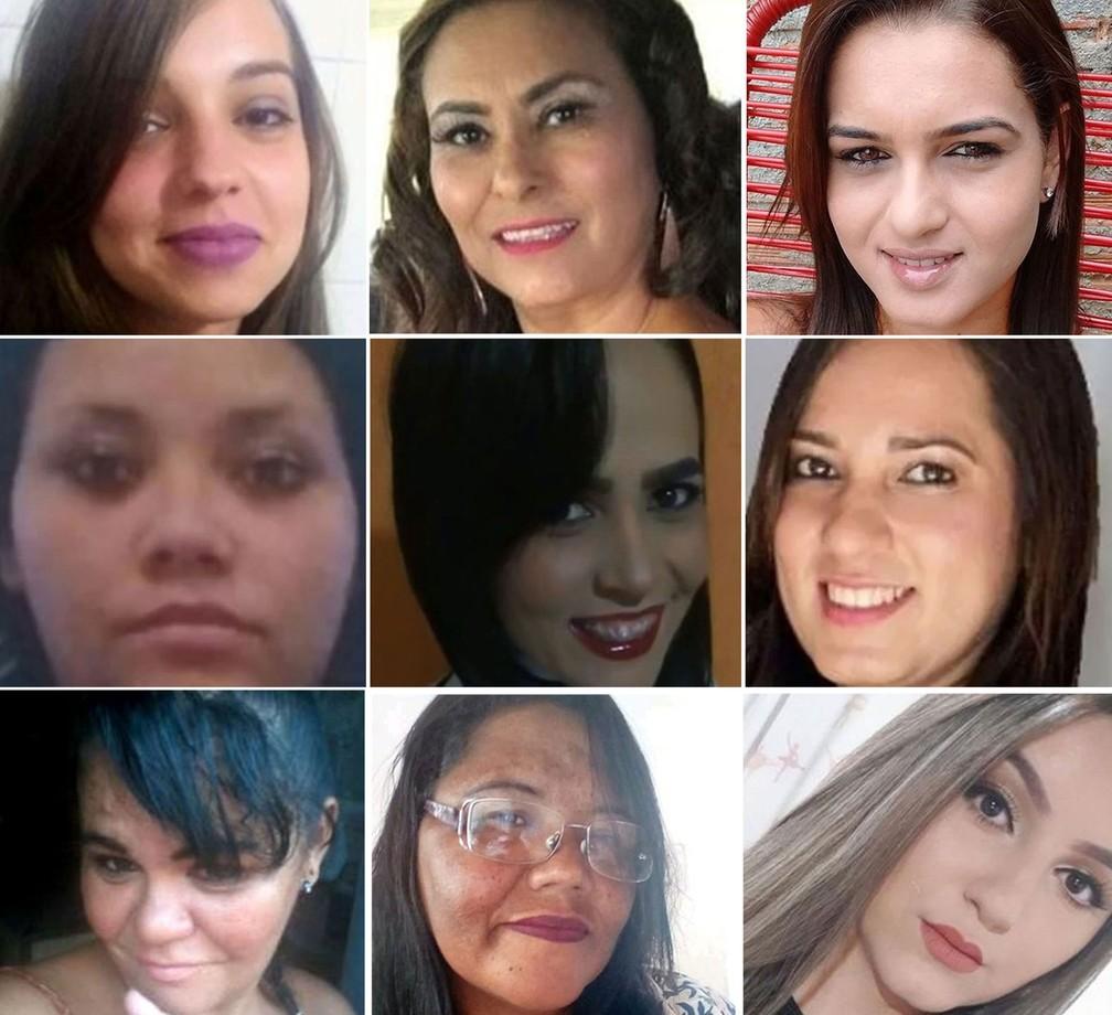 Vítimas de feminicídio em 2019 em São Paulo — Foto: Reprodução/Arquivo pessoal