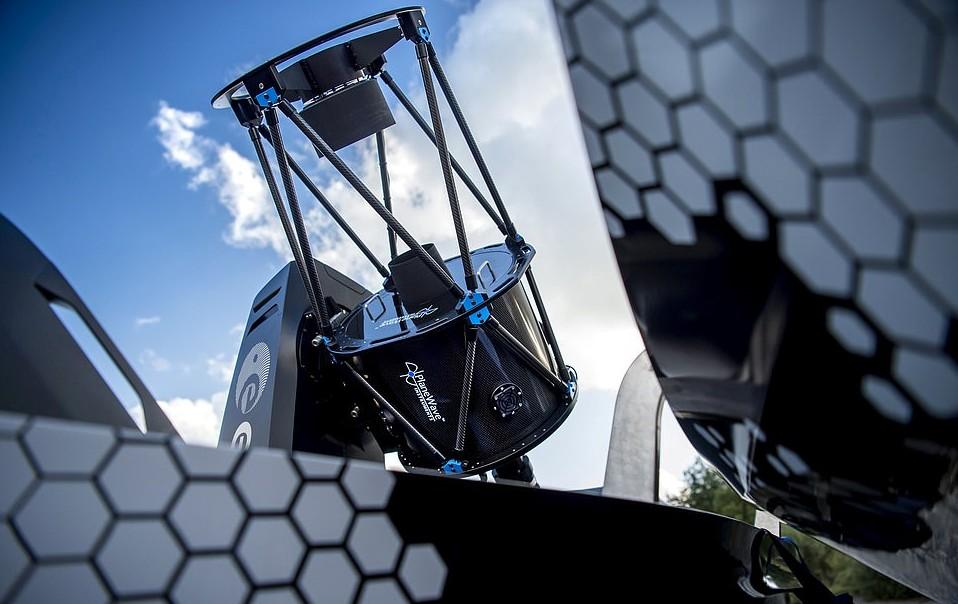 Detalhe do telescópio equipado na picape (Foto: Divulgação/Nissan)
