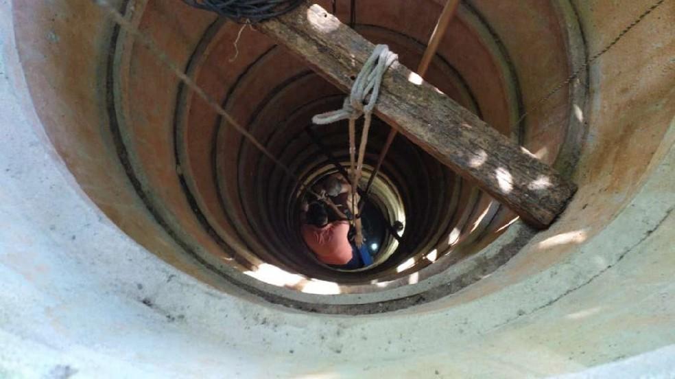Resgate foi realizado pelo Corpo de Bombeiros na manhã desta sexta-feira (28) — Foto: Corpo de Bombeiros