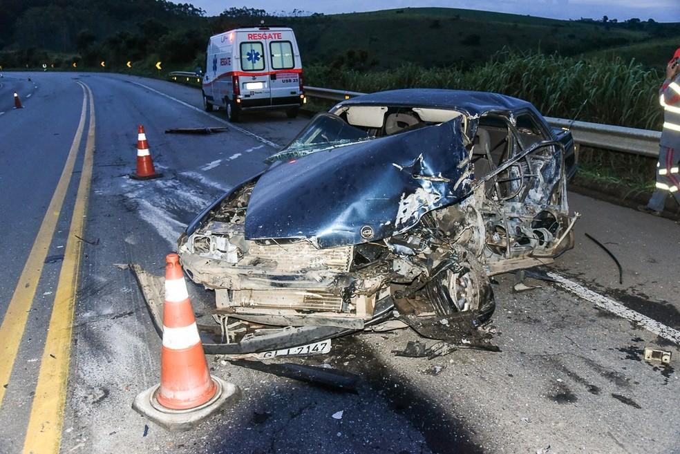 -  O idoso estava em carro que foi atingido por uma carreta  Foto: Polícia Civil/Divulgação