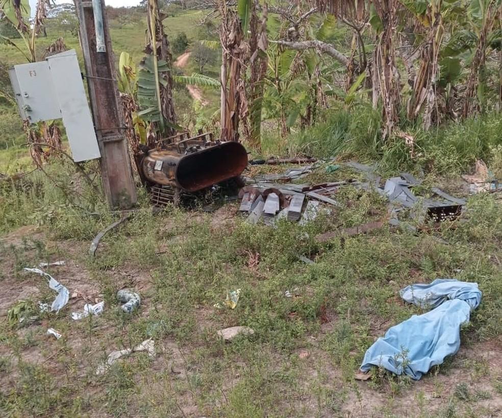 Criminosos furtam estação de água em São Caetano — Foto: Compesa/Divulgação