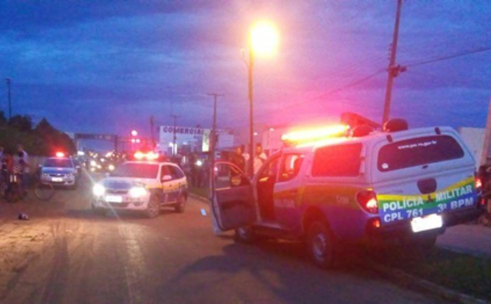 Polícia Militar de Vilhena prendeu dois suspeitos do crime.  — Foto: Reprodução/Rota Policial News