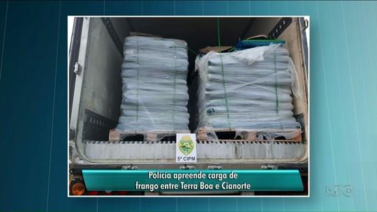 Polícia apreende carga de frango entre Cianorte e Terra Boa