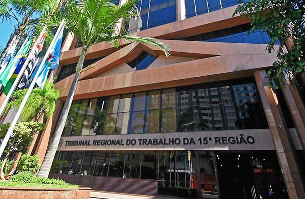 Caso foi julgado no TRT-15, em Campinas (Foto: Denis Simas/TRT 15)