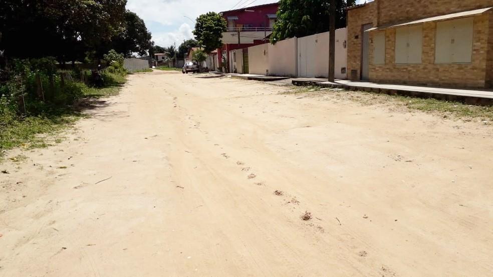 Homem foi preso no Planalto, na Zona Oeste de Natal — Foto: Klênyo Galvão/Inter TV Cabugi