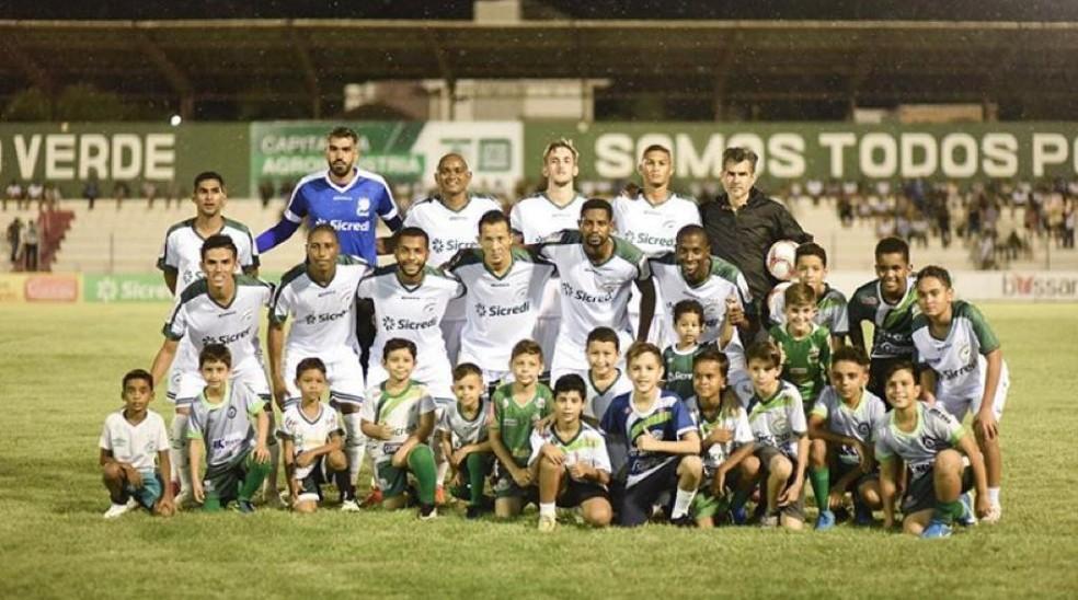 Luverdense, rebaixado na Série C de 2019, disputa a quarta divisão do nacional este ano — Foto: Assessoria Luverdense