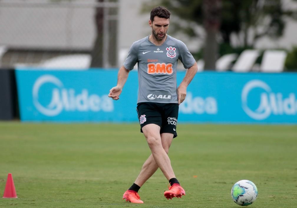 Boselli no treino do Corinthians — Foto: Rodrigo Coca/Ag. Corinthians