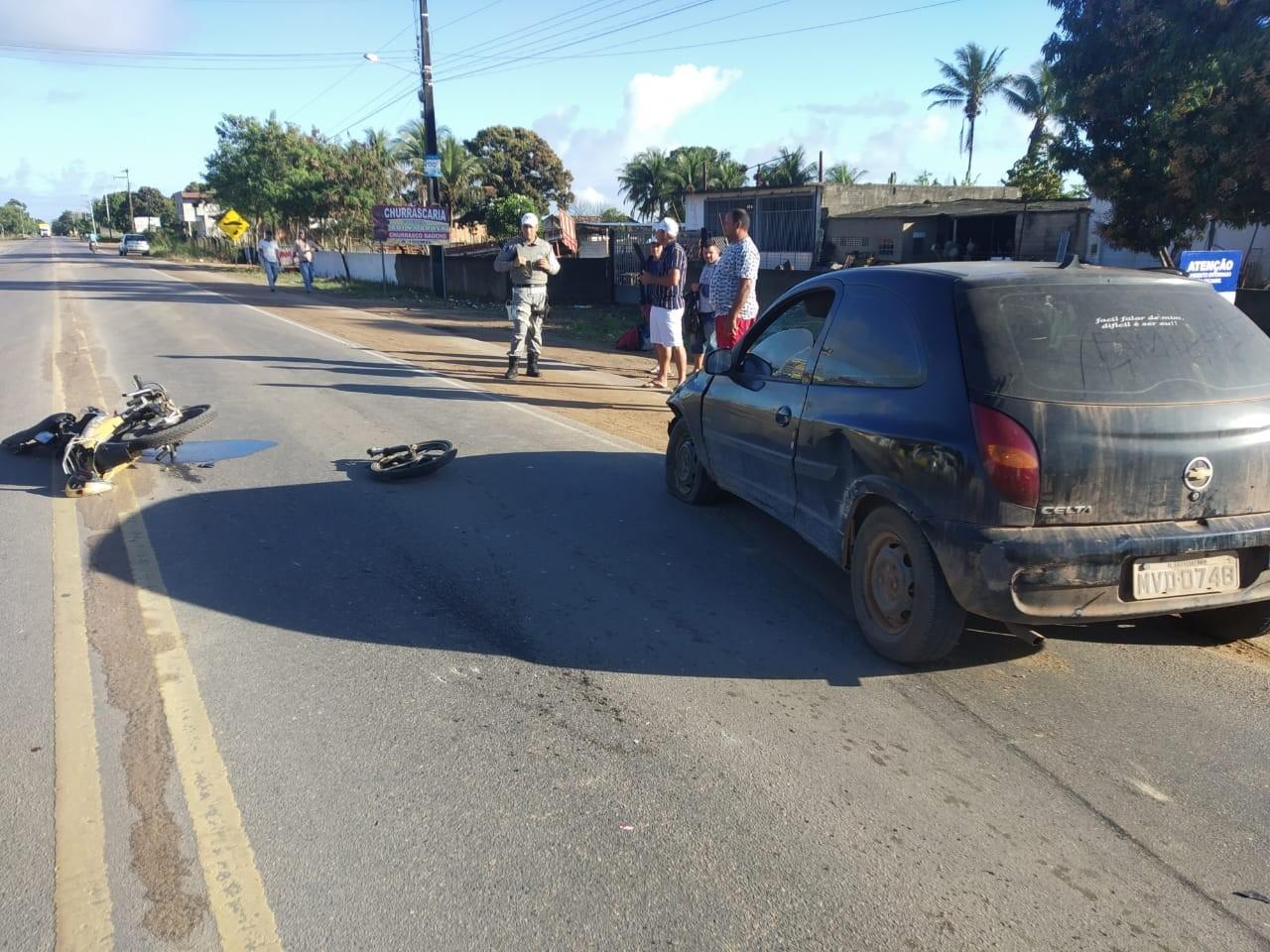 Motociclista fica ferido em colisão na AL-110, em Arapiraca - Notícias - Plantão Diário