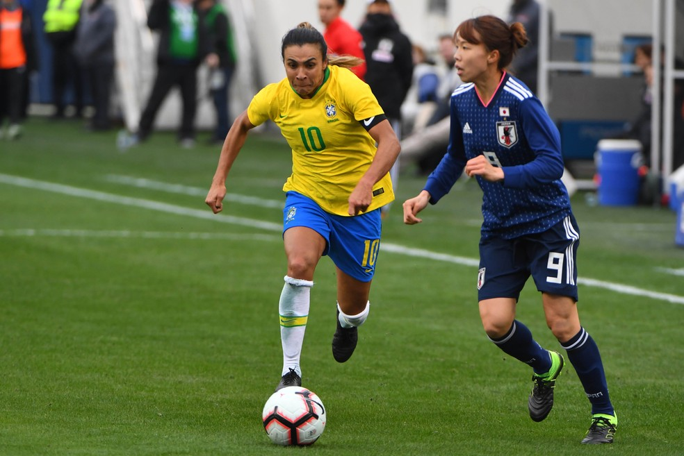 Marta e companhia estreiam neste domingo contra a Jamaica — Foto: Christopher Hanewinckel-USA TODAY Sports
