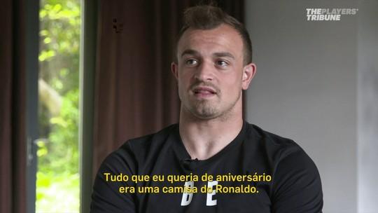 Shaqiri admite idolatria por Ronaldo