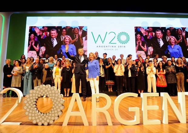 Encerramento do W20 com presença de Mauricio Macri, presidente da Argentina (Foto: Divulgação)