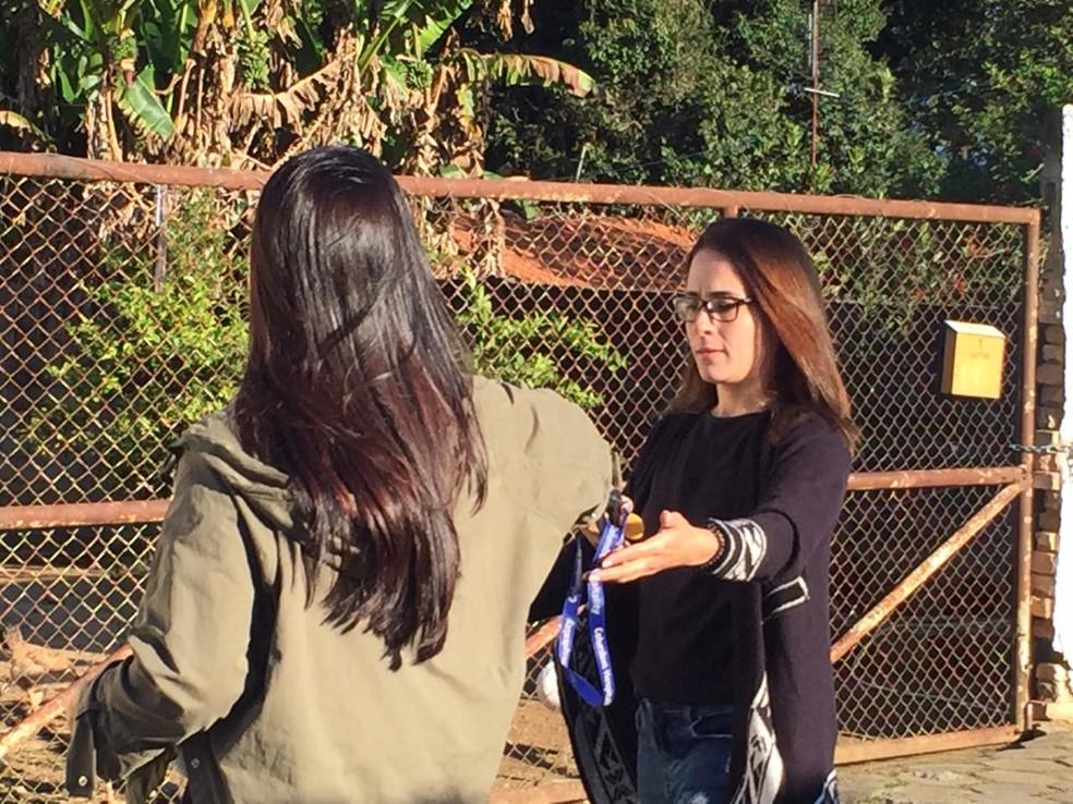 Anna Carolina Jatobá deixou a Penitenciária feminina Santa Maria Eufrásia Pelletier em Tremembé (SP) — Foto: Luiza Veneziani/G1
