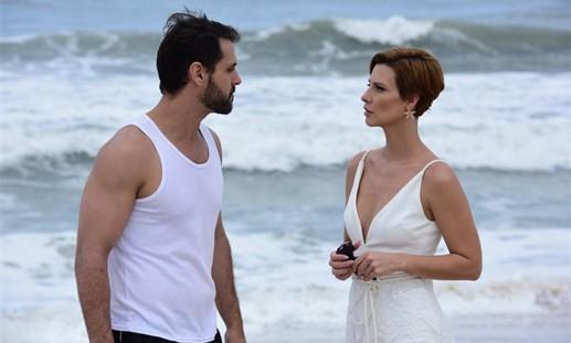 Camila Rodrigues e Felipe Cunha, o casal protagonista de 'Topíssima' (Foto: Blad Meneghel/ Record TV)