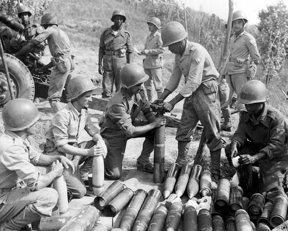 Entre 1943 e 1945, o Brasil enviou pouco mais de 25 mil soldados para lutar na Itália — Foto: FEB/Divulgação