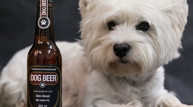 Cerveja pra cachorro: a Dog Beer vende a bebida nos sabores carne e frango (Foto: Divulgação)
