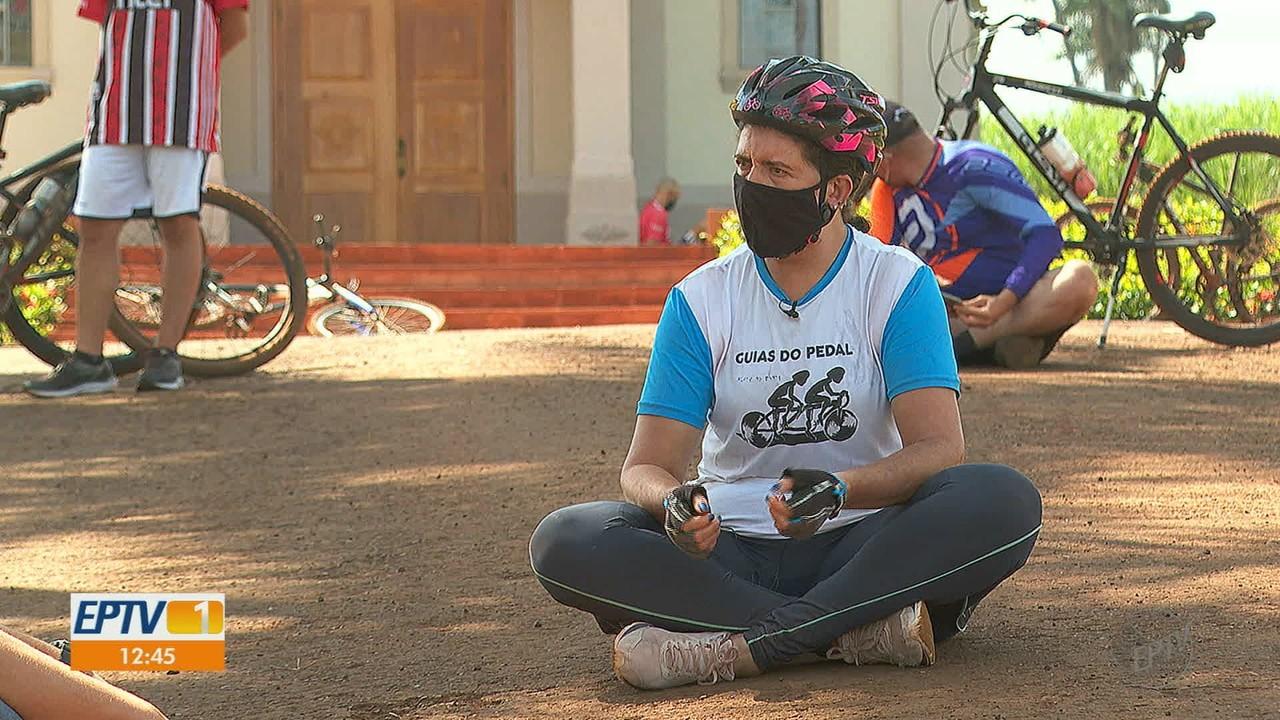 Com pouca visão, moradora vê no ciclismo chance de superação