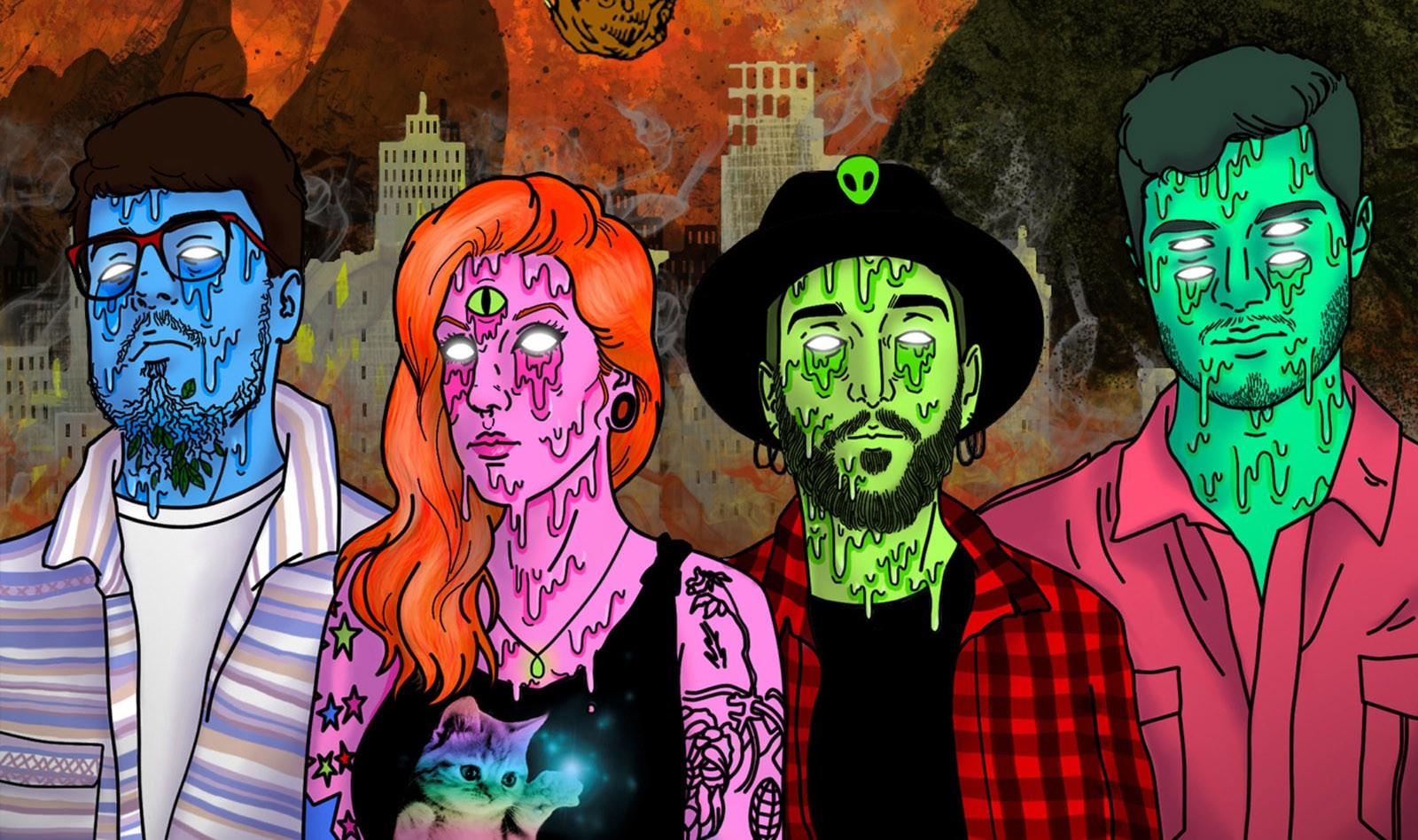 Banda Blanchez retrata o estado de espírito do Rio de Janeiro na capa do EP 'Bring it on' - Notícias - Plantão Diário