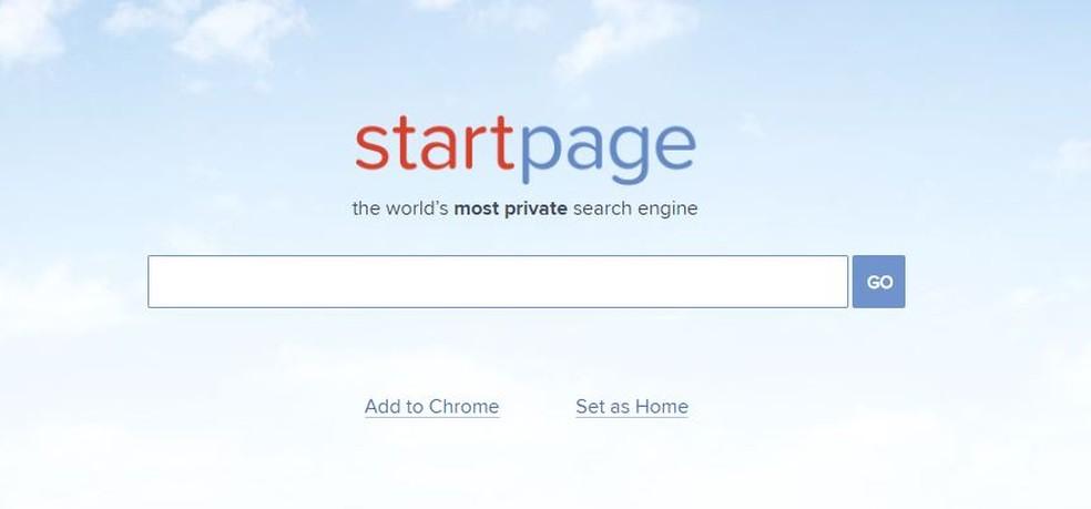 StartPage permite pesquisar no Google sem correr riscos (Foto: Reprodução/Taysa Coelho)