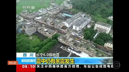 Terremoto deixa mortos e feridos na China