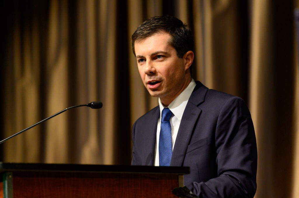 NEW YORK, NY, UNITED STATES - 2019/04/04: Pete Buttigieg (D), Mayor of South Bend, Indiana, seen speaking at the National Action Network National (NAN) convention in New York City, NY. (Photo by Michael Brochstein/SOPA Images/LightRocket via Getty Images) (Foto: LightRocket via Getty Images)