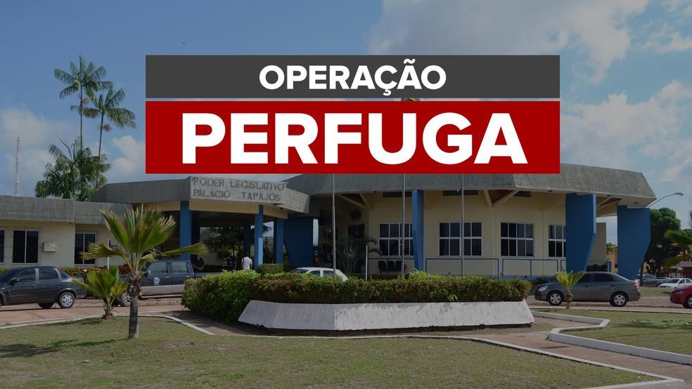 Operação Perfuga em Santarém no Pará — Foto: Arte/G1