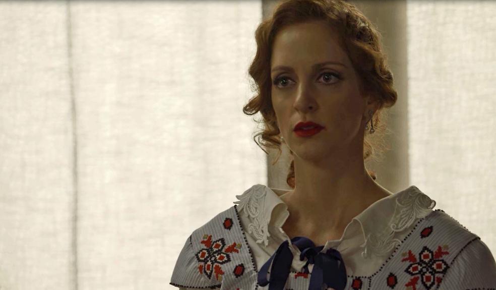 Ludmila reage às acusações do pai (Foto: TV Globo)