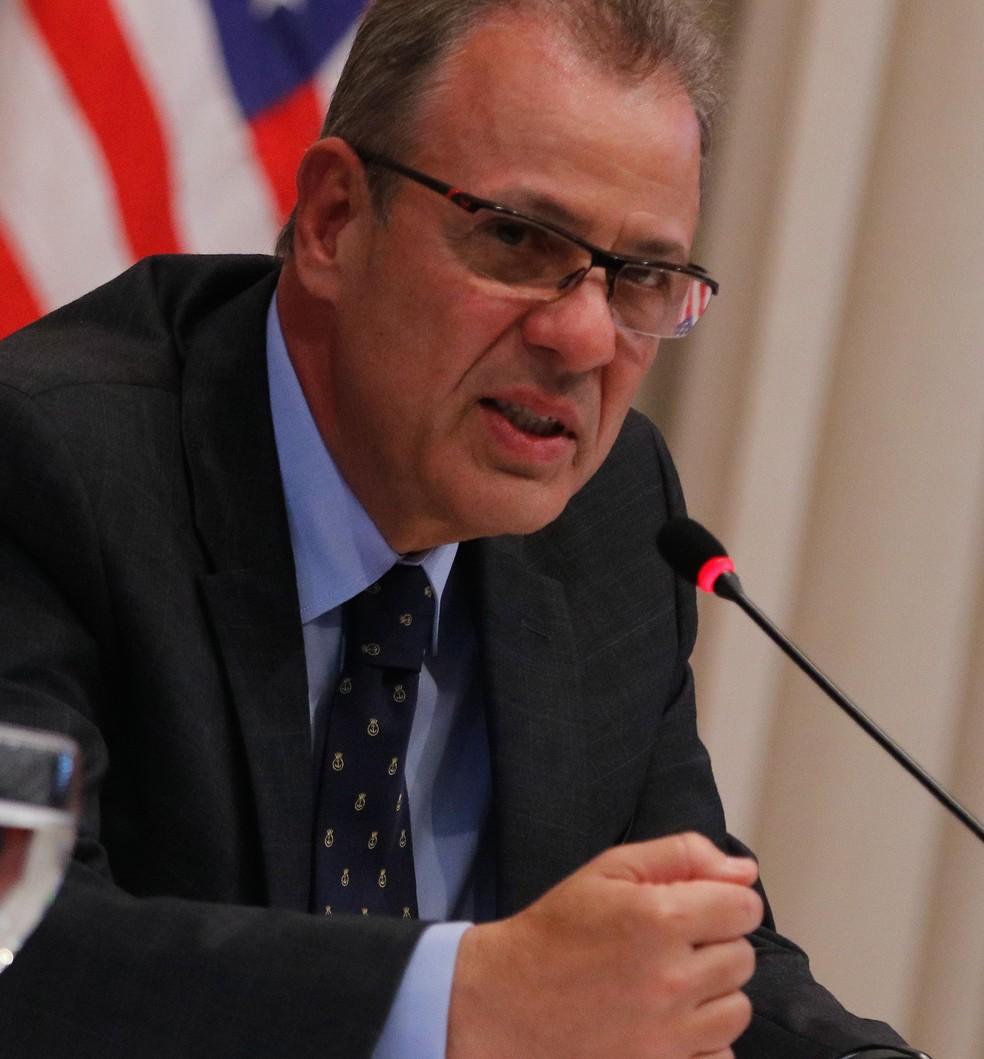 O ministro de Minas e Energia, Bento Albuquerque: reunião para debater a possibilidade de mudança na cobrança do ICMS — Foto: Tomaz Silva/Agência Brasil