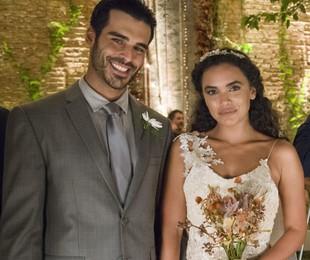 Anderson Tomazini e Giovana Cordeiro gravam 'O outro lado do paraíso' | Globo/Cesar Alves