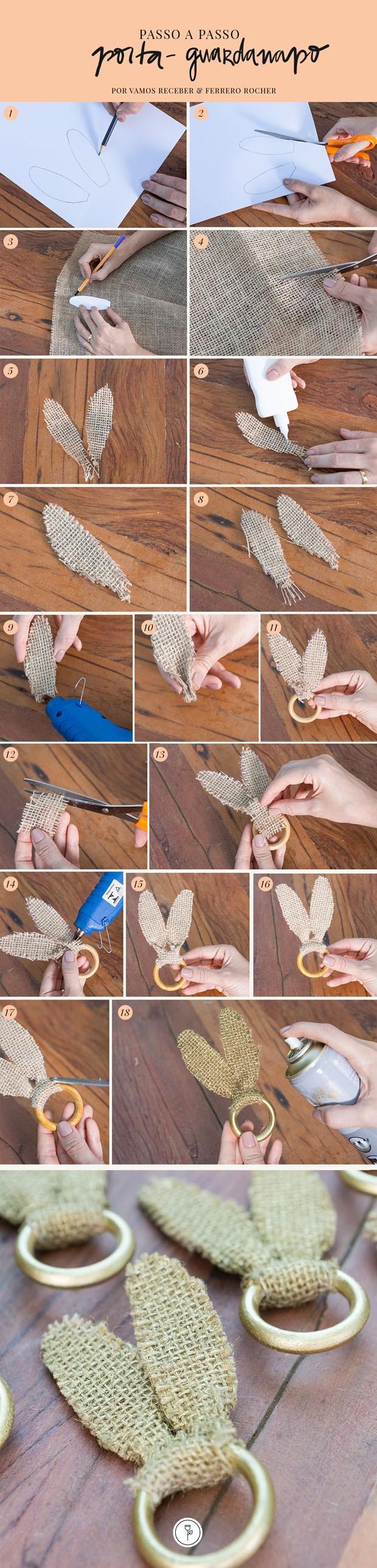 Faça você mesmo: porta-guardanapo de Páscoa (Foto: Fotos Douglas Daniel Arte Studio Mr Jobim)