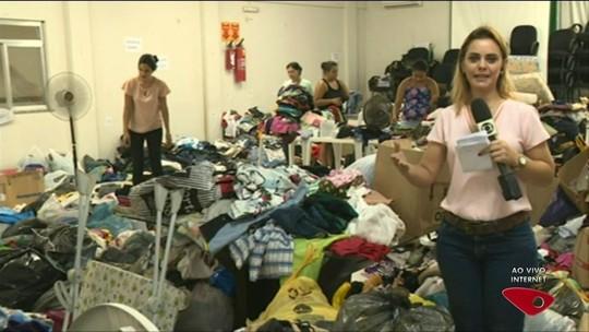 Rio Novo do Sul tem 10 mil afetados pelas chuvas e recebe doações no ES