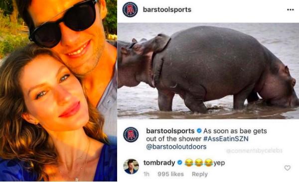 Tom Brady e Gisele Bündchen e o comentário inesperado feito pelo jogador de futebol americano (Foto: Instagram)
