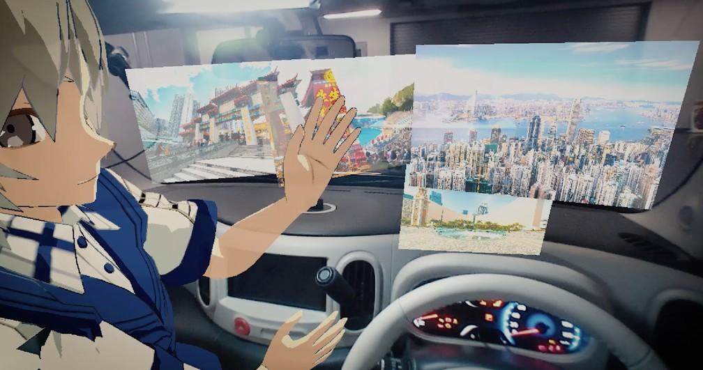 Tecnologia da Nissan promete ajudar motorista a 'enxergar o invisível' — Foto: Nissan/Divulgação