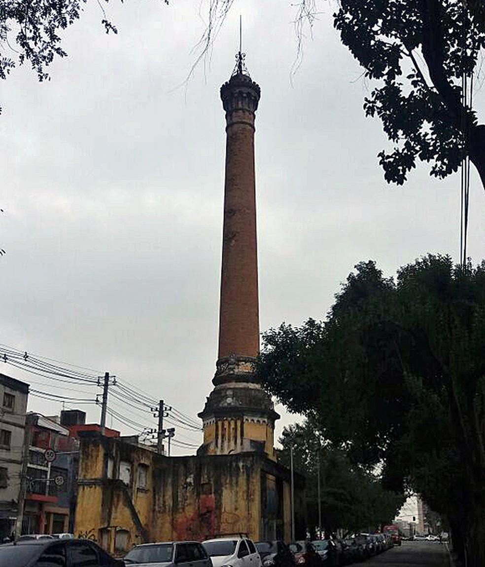 Justiça obriga governo de SP a restaurar Chaminé da Luz — Foto: Mateus Sousa/Arquivo Pessoal